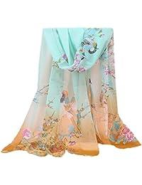 MRULIC Echarpes foulards femme Écharpe Foulard Châle pour Femme Automne  Hiver Chaud en Coton à Carreaux b1ee47b2ee3