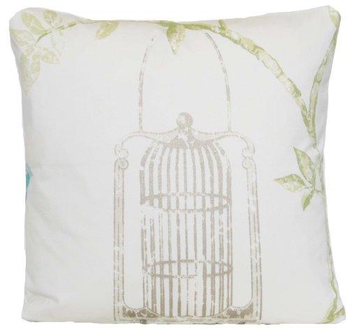 Crema cuscino uccello gabbia Nina Campbell tessuto in cotone (Dragonfly Crema)