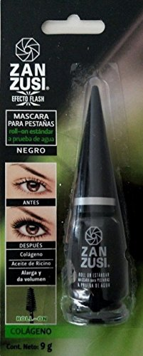 0bc618e61e6 ZAN ZUSI Waterproof Black Roll On Mascara 9g Glass Bottle From Mexico by  Zan Zusi