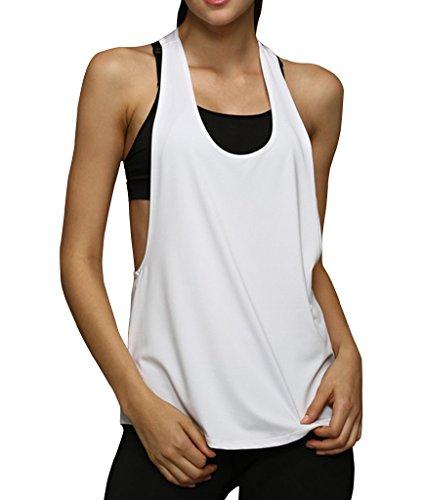 sandbank Damen Rückenfrei Top Weiß - Weiß