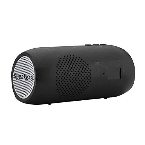 Preisvergleich Produktbild Tragbarer drahtloser HiFi-Bluetooth-Lautsprecher Stereo-Soundleiste TF FM-Radio-Subwoofer-Säulenlautsprecher für Computertelefone