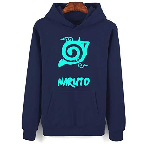 Final Naruto Kostüm - Naruto Hooded Winter Hoodies Men Cartoon Sweatshirts Set Classic Anime Clothes