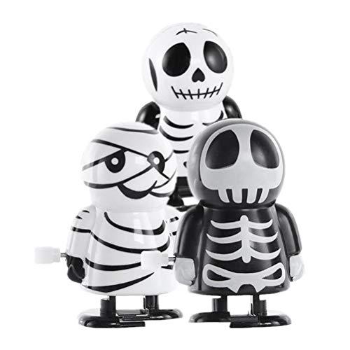 BESTOYARD 3 stücke Halloween Wind-up Spielzeug Geist Spielzeug Lustige Party Favors Verschiedene Spielzeug Halloween Party Supplies für Kinder (Zufallsmuster)