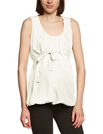 MAMALICIOUS Damen Umstandsmode Bluse 20001722/NADA SL WOVEN TOP, Gr. 40 (L), Weiß (SNOW WHITE)