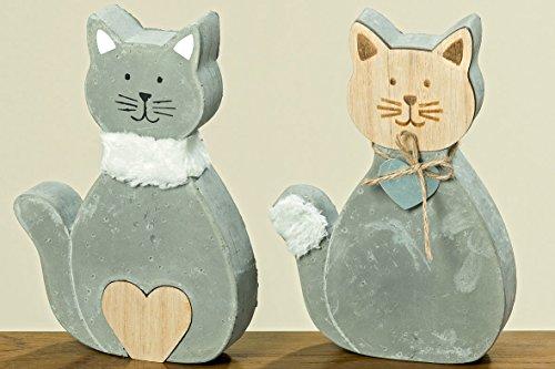 Deko figuras gatos en un juego de 2unidades XL 20cm–2Esculturas de hormigón a un precio
