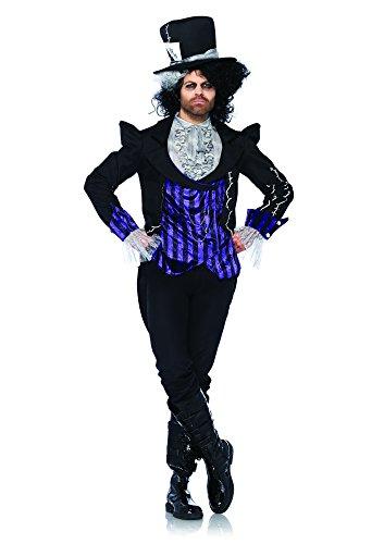 Leg Avenue 85322 - Dark Mad Hatter Kostüm Set, 3-teilig, Größe XL, schwarz/lila