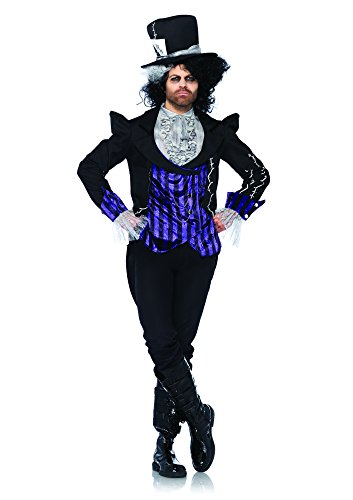 Leg Avenue 85322 - Dark Mad Hatter Kostüm Set, 3-teilig, Größe S/M, (Kostüm Mad Hatter Halloween Kinder)