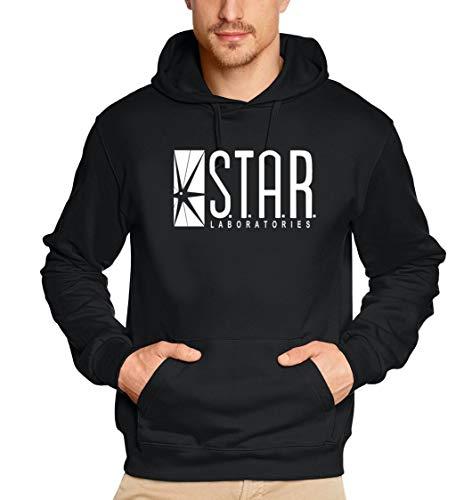 S.T.A.R. Laboratories Hoodie Sweatshirt mit Kapuze schwarz-weiss UNI Gr.S - Damen-lab