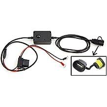 Cargador USB de teléfonos apto para motocicletas, motos, ciclomotores y escúteres que se conecta directamente a la batería. Universal para todos los teléfonos.