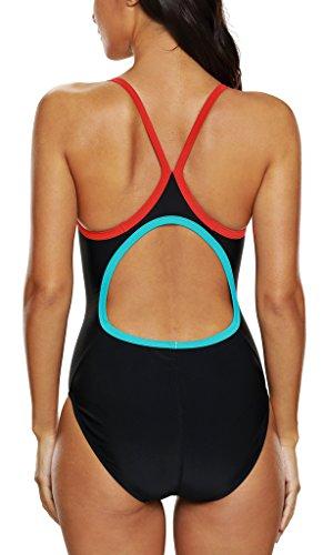 CharmLeaks Damen Einteiler Figuroptimizer Badeanzug Racerback Essential Endurance Schwarz