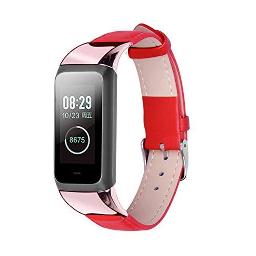 Upxiang für Xiaomi Huami Amazfit COR 2 Watch Armband Leder Wrist Band Strap Ersetze Uhrenarmband mit Stecker Einfarbig Sport Armbänder -