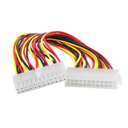Magideal ATX, 24-polig Männlich bis 24 Pin Weiblich Energieversorgung Kabel für PC Netzteil TW