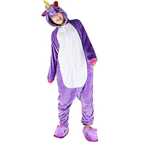 Noir Halloween Costumes Pour Les Couples - Pyjama Licorne Adulte Dguisement Animaux Unisexe Outfit