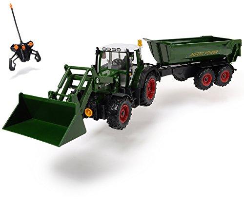 ferngesteuerter maehdrescher Dickie Toys 201119266 - RC Farmer Set, funkferngesteuerter Traktor mit Anhänger inklusive Batterien, 60 cm