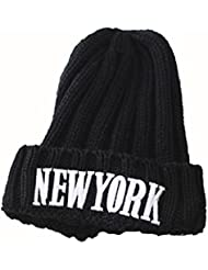 El hacer punto del casquillo masculino del otoño y del invierno Días Mantenga Cap lana sombrero caliente del espesamiento ( Color : Negro )