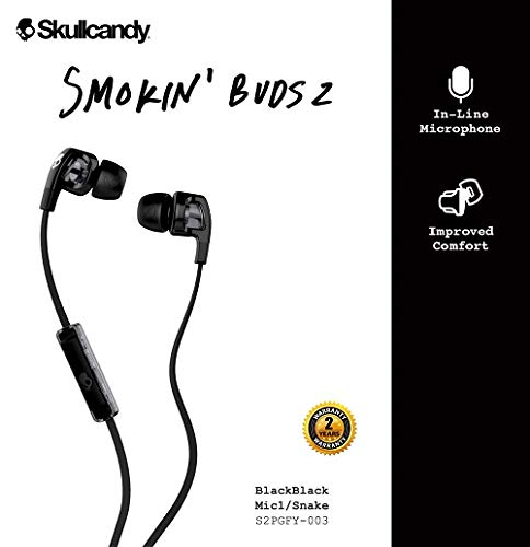 Skullcandy Smokin Buds2 Wired in-Earphone with Mic (Black) Image 2