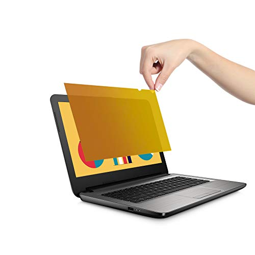 VistaProtect - Premium Gold Blickschutzfilter, Gold Privacy Filter, Blickschutzfolie für Laptops & Notebooks (15.6″ Zoll) -