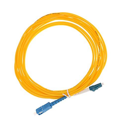 MagiDeal SC-LC Singlemode Single Core Patchkabel Simplex Jumper Fiber Optisch Jumperkabel Glasfaserkabel - Gelb 5M -