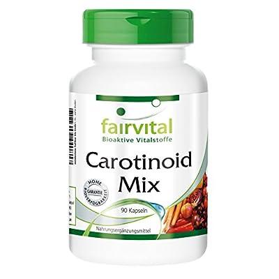 Fairvital - Carotenoid Mix - Lutein, Lycopene, Beta-Carotene & Zeaxanthin - With Anthocyanins - 90 Vegetarian Capsules