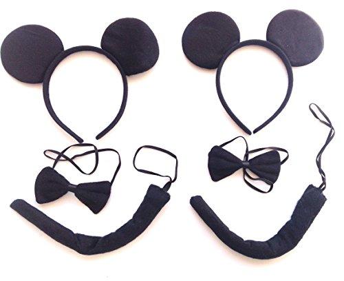 w.s.t Fav.t Black Mouse-Kostüm, Kostümzubehör, 2 Pakete
