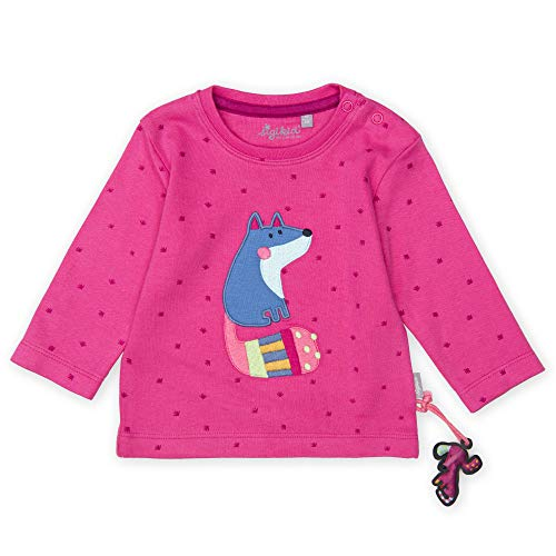 Sigikid Baby - Mädchen Langarmshirt Langarmshirt,, per pack Rosa (pink 682), 86 (Herstellergröße: 86)