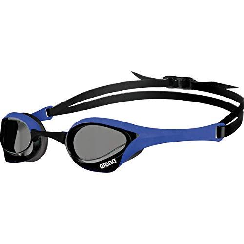 arena Unisex Wettkampf Profi Schwimmbrille Cobra Ultra (UV-Schutz, Anti-Fog Beschichtung, Harte Gläser),Blau (Blue-Blue-Black (70)),Einheitsgröße