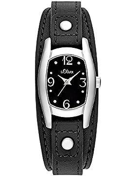 s.Oliver Damen-Armbanduhr Analog Quarz Leder SO-3100-LQ