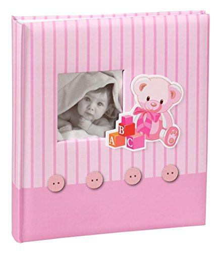 Babys Memories Fotoalbum in 29x32 cm 60 weiße Seiten Kinder Baby Foto Album: Farbe: Rosa - Digitale Baby-foto-album