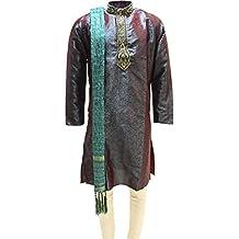MKP7007 Grüne und Purpur Herren Kurta Pyjama Indian Suit Bollywood Sherwani