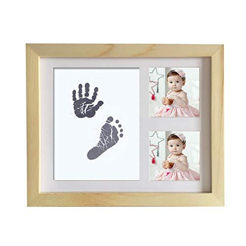 (AYQ Baby Handabdruck und Fußabdruck Fotoalbum, kostbarem Bilderrahmen aus Holz und Foto als Andenken für die ersten Jahre Ihres Kleinkindes - Das ideale Babyparty Geschenk- Sweet Memories)