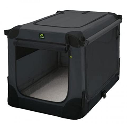 Maelson Soft Kennel faltbare Hundebox -anthrazit- M 82 - (82 x 59 x 60 cm)