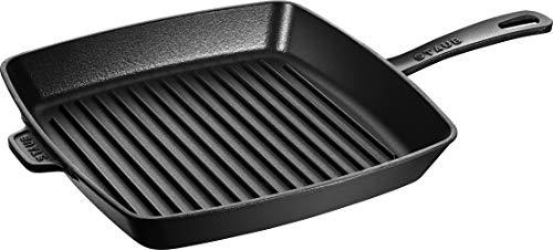 Staub 40501-106-0 - Sartén parrilla hierro fundido, apta para inducción, 26 cm, color negro