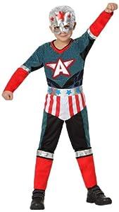 Atosa-16456 Atosa-16456-Disfraz Heroe Comic-Infantil 7 a 9 años-NIño-Rojo, color, L (16456)
