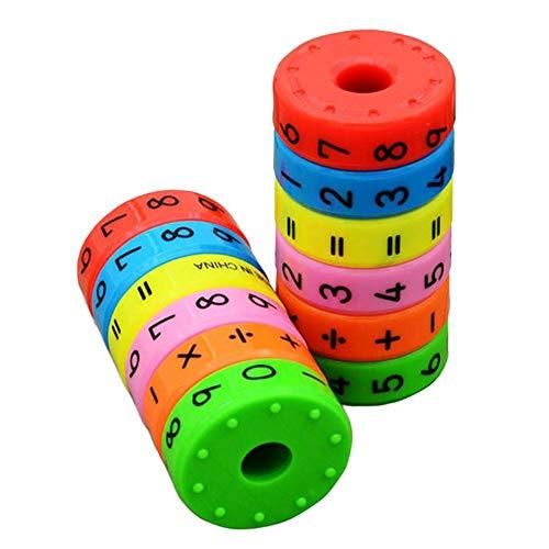 Bildung Spielzeug Magnetische Mathematik Zahlen Zylinder Lernen Spielzeug Mathematik Spielzeug Bau Engineering für Jungen und Mädchen Alter 3, 4 und 5 und mehr | Kreatives Spaß-Set Kinder