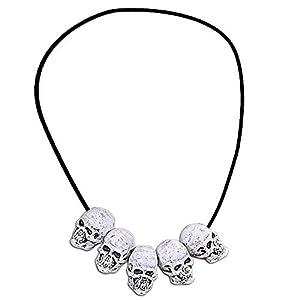 WIDMANN?Collar con calaveras Unisex-Adult, blanco, talla única, vd-wdm8107s