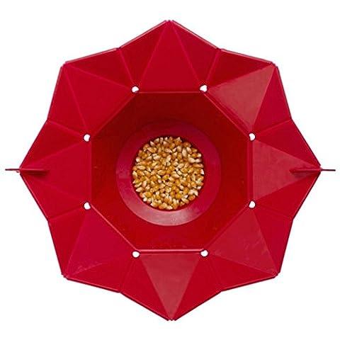 Popcorn Maker, Zolimx Mikrowelle Silikon Magic Haushalt Container Gesunde Kochen Werkzeuge (Rot)
