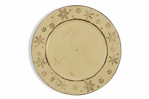 Galileo Casa étoiles Dessous de Plat, Blanc, 33 cm