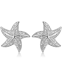 SHAZE Rhodium Plated Glittering Stars Earrings for Women|Earrings for Women|Earrings for Women Stylish