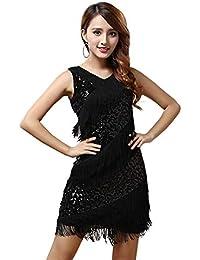 Vestido con Flecos Baile Lentejuelas Y De Vestido Latino Mode De Marca Salsa  Tango Cha Cha Vestido De Fiesta Vestidos De Charleston… 31c3b5c55fe