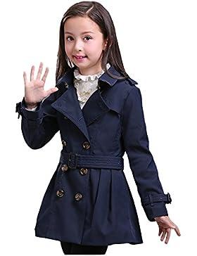 LSERVER-Capotto Ragazza Bambina Primavera autunno trench cappotti abito giacca a vento giacche capispalla