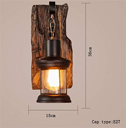 Led Lamps Fine El Walnut Burlywood Wall Lamp Loft Retro Luminaire Wall Light Back To Search Resultslights & Lighting
