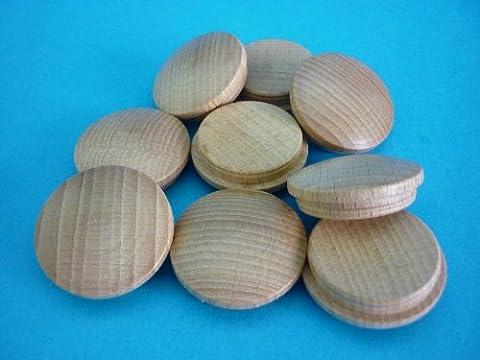 1 Packung Holzabdeckkappen 6030 Buche natur 30 mm