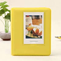 Coollooda 64 Pocket Album Mini Insert Album Adecuado para Polaroid Mini Album yellow