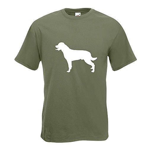 KIWISTAR - Rottweiler Hunderasse Dog T-Shirt in 15 verschiedenen Farben - Herren Funshirt bedruckt Design Sprüche Spruch Motive Oberteil Baumwolle Print Größe S M L XL XXL Olive
