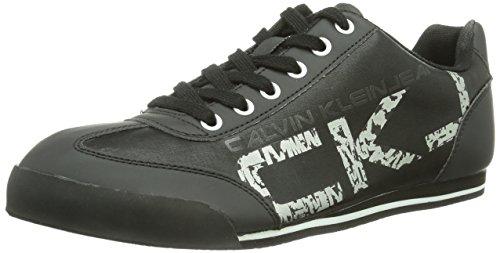Scarpe Sportive Sneakers basse Uomo Calvin Klein Mod. Cale Rub Nylon/Rubber SE8292 Col. Nero (45).