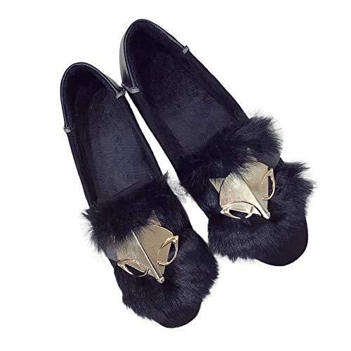 Dragon868 scarpe donna velluto elegante, stivali basse mocassini fox design scarpe basse cerimonia invernali