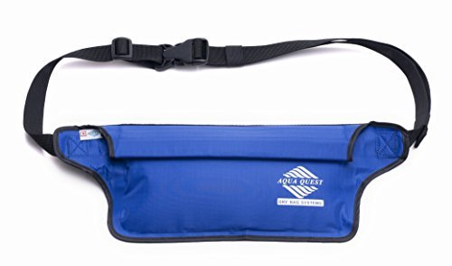 100% Waterproof - Aqua Quest AquaRoo Money Belt - Comfortable & Ultra-Light Waist Bag Travel Pouch - Durable & Easy to Conceal Dry Bag Fanny Pack - Blue by Aqua-Quest