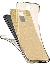 EUWLY Schutzhülle für [Samsung Galaxy S9], 360° Full Body Cover Glänzend Glitzer Strass Handy Tasche für Samsung Galaxy S9, Luxus Glänzend Glitzer Kristall Komplettschutz Vorder und Rückseiten Schutz TPU Silikon Transparent Hülle Case Crystal Clear Touchscreen Handytasche Weich Flexible Durchsichtig Silikon Schutz Handy Hülle für Samsung Galaxy S9 + Blau Eingabestift Stylus Touch Pen-Golden