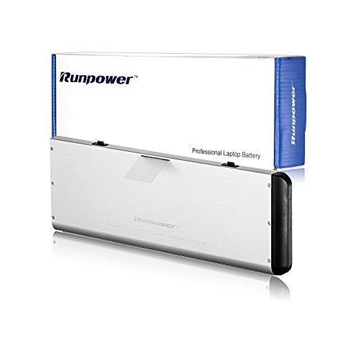Runpower Nouveau Batterie ordinateur portable pour Apple A1280 A1278 (2008 Version) Macbook 13 pouces en aluminium de série Unibody - Garantie de 18 mois [Li-Polymer 6 cellules 54Wh/5000mAh]