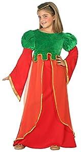 Atosa-38650 Disfraz Dama Medieval, Color Rosso, 5 a 6 años (38650)